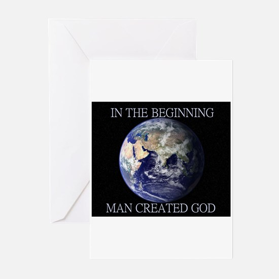 Man Created God Greeting Cards (Pk of 10)