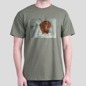 Mornings Dog Dark T-Shirt