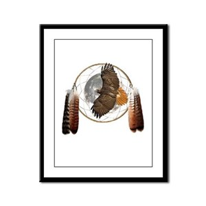 Spirit Hawk Framed Panel Print