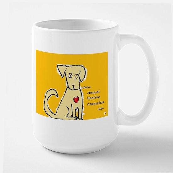 AnimalHealingConnection White Cat Large Mug