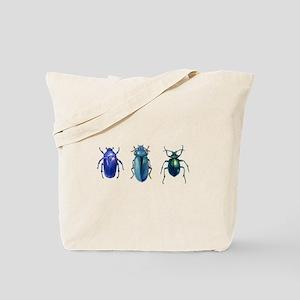 Iridescent Beetles Tote Bag