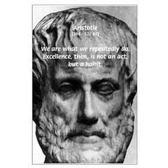 Aristotle: Excellence Not Act Habit Posters