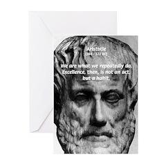Greek Philosophy: Aristotle Greeting Cards (Packag