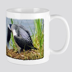 Common Loon on nest Mug