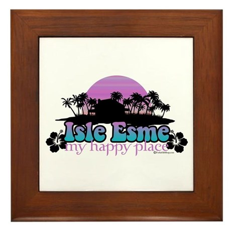 Isle Esme - My Happy Place Framed Tile