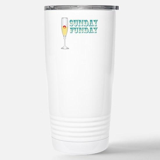 Sunday Funday Stainless Steel Travel Mug