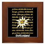 I Love Switzerland Framed Tile