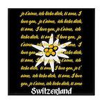 I Love Switzerland Tile Coaster