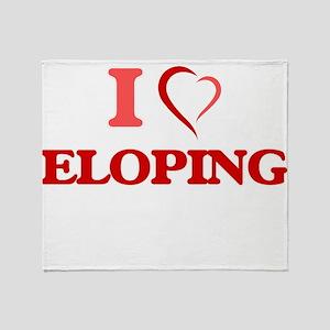 I love ELOPING Throw Blanket