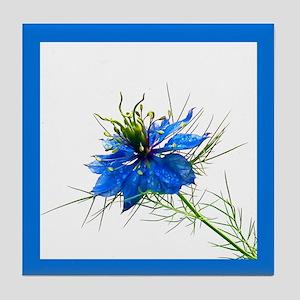 Blue Wildflower Tile Coaster