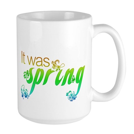 """It Was Spring"" Large Mug"