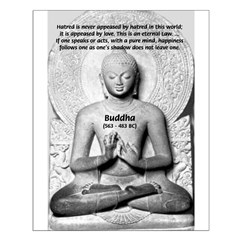 Buddha Pure Mind Happiness Hatred Poster