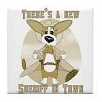Sheriff Corgi Tile Coaster