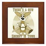 Sheriff Corgi Framed Tile