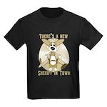 Sheriff Corgi Kids Dark T-Shirt