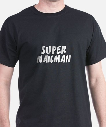 SUPER MAILMAN  Black T-Shirt