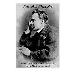 Friedrich Nietzsche Skeptical Postcards (Package o