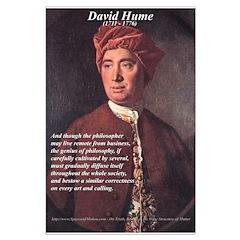 David Hume Genius of Philosophy Posters
