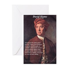 David Hume Philosophy Greeting Cards (Pk of 10