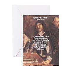 Philosopher: Rene Descartes Greeting Cards (Packag