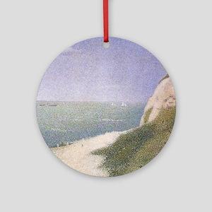 Seurat Beach at Honfleur Ornament (Round)