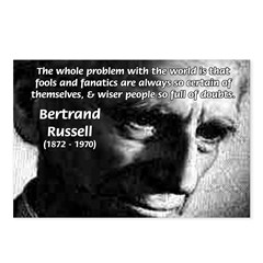 Philosopher Bertrand Russell Postcards (Package of
