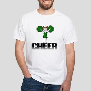 Green Cheerleading White T-Shirt
