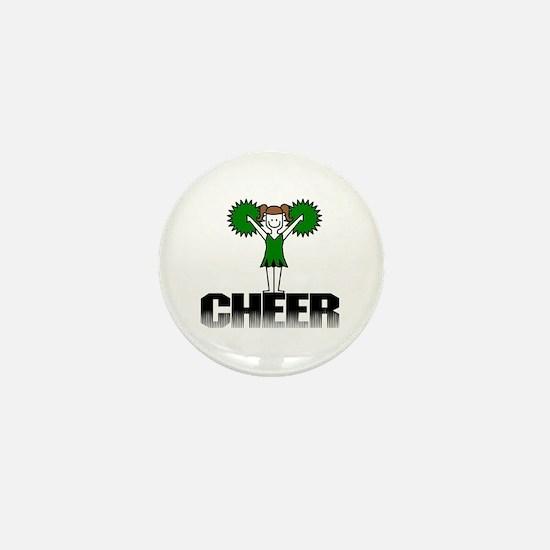 Green Cheerleading Mini Button