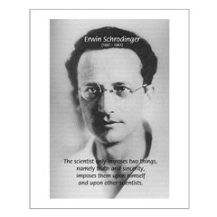 Erwin Schrodinger: Ideals of Science Posters