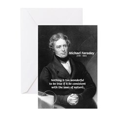 Michael Faraday Greeting Cards (Pk of 10)