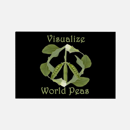 VISUALIZE WORLD PEAS Rectangle Magnet