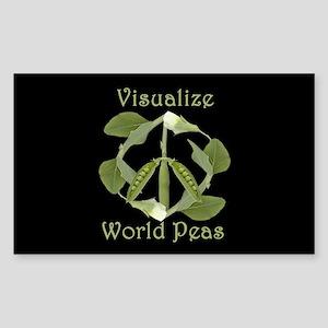 VISUALIZE WORLD PEAS Rectangle Sticker