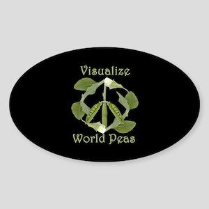 VISUALIZE WORLD PEAS Oval Sticker
