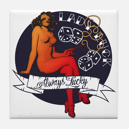 Lady Luck Tile Coaster