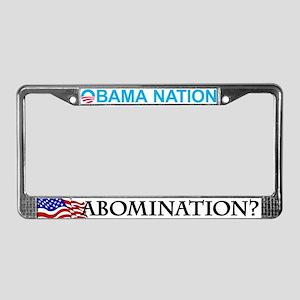 Anti Obama License Plate Frame