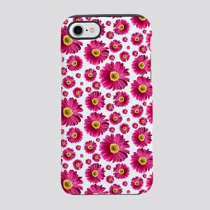 Fuchsia Pop Daisy Pattern iPhone 7 Tough Case
