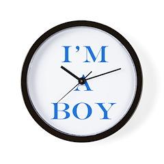 I'm a Boy Wall Clock