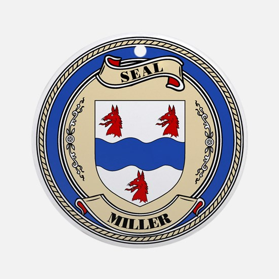 Seal - Miller Ornament (Round)