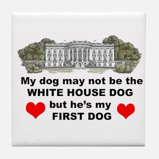 first dog Tile Coaster