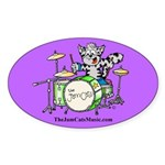 The Jam Cats Oval Sticker