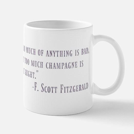 Too Much Champagne Purple Mugs