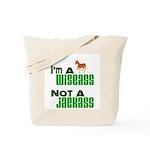 """""""Wiseass, Not Jackass"""" Tote Bag"""
