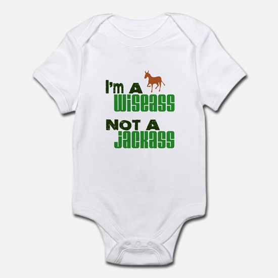 """Wiseass, Not Jackass"" Infant Bodysuit"