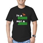 """""""Wiseass, Not Jackass"""" Men's Fitted T-Shirt (dark)"""