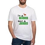 """""""Wiseass, Not Jackass"""" Fitted T-Shirt"""