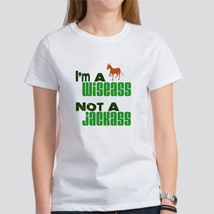 """Wiseass, Not Jackass"" Women's T-Shirt"