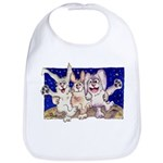 Full Moon Rabbits Bib