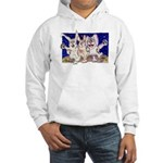 Full Moon Rabbits Hooded Sweatshirt
