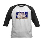 Full Moon Rabbits Kids Baseball Jersey