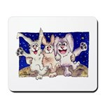 Full Moon Rabbits Mousepad
